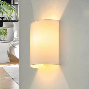 Tissu Applique murale de couleur blanc Loft moderne élégant Applique murale ALICE (Licht-Erlebnisse, neuf)