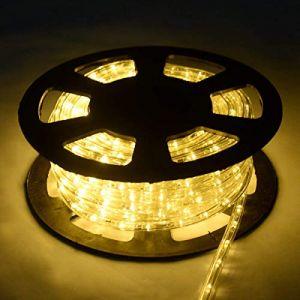COSTWAY Guirlande Lumineuses Extérieur Tube Lumineux LED 20m,720 Ampoules Décoration Intérieur et Extérieur pour Salle, Jardin, Noël, Mariage, Fête (Beige) (FDS GmbH, neuf)