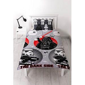 """LEGO Parure de lit simple """"Méchants"""" de Star Wars - Motif imprimé répété (1001 Nuits Enchantées, neuf)"""