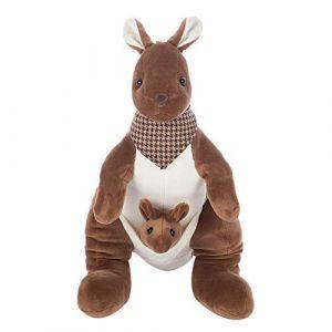 Jouet en peluche mignon kangourou mère et enfant poupée en peluche animal poupée enfants cadeau d'anniversaire-28 cm (lizhaowei531045832, neuf)