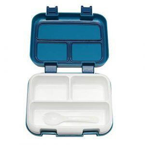 Boîte à bento, boîte de rangement pour aliments, boîte à lunch pratique pour le chauffage par micro-ondes pour enfants et adultes, boîte à lunch étanche, parfaite pour l'école, pique-niques, voyage (Serria, neuf)