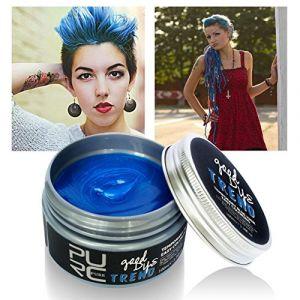 Pretty Comy Cire Crème Cheveux DIY Cire Coiffante Cheveux Gel Colorant Cheveux Coloration Temporaire Cheveux Homme Femme Unisex DIY Teinture de Cheveux Naturel (prettyuk, neuf)