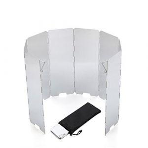 BrilliantDay Pare-Vent de Camping Pliable en Alliage d'aluminium pour Réchaud de Camping (8pcs, 65x13,5cm) (BrilliantDayDirect, neuf)