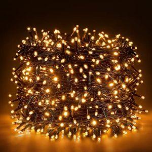Ulinek 1000 LED Guirlande Lumineuse 100M Extérieur Intérieur, Décoration Noël Lumière 8 Mode Éclairage/Basse Tension,Guirlande Lumière Sapin Arbre Anniversaire Mariage Jardin Maison (Blanc Chaud) (Weiyizhixiang EU, neuf)