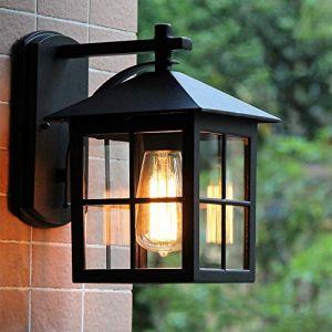 Applique Murale Extérieur Moderne luminaire LED Lampe Murale Étanche IP23,Aluminium Appliques murales Lanterne classique, Pavillon porche terrasse jardin allées escaliers Luminaire Extérieur (Chao Zan Maoyi, neuf)