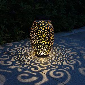 Lanterne Solaire, Tomshine LED Lampe lanterne extérieure, Etanche IP44, Sans fil Rechargeable pour Garden Patio Courtyard Extérieur (Meelady, neuf)