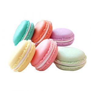 Amyzor 6pcs Macaron Coque, Mini Macaron Boîte Boîte à bijoux, Macaron, Macaron mignon Pilulier, coloré, Macaron Boîte de rangement Candy Organiseur de bijoux Pill Coque récipient, couleurs assorties, 4,2cm (Yoadorns, neuf)