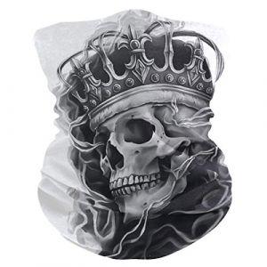 QMIN Bandeau Abstrait Roi Fantôme Tête de Mort Bandana Visage Soleil Protection Masque Cagoule Magique Cagoule pour Femmes Hommes Garçons Filles (QMIN, neuf)