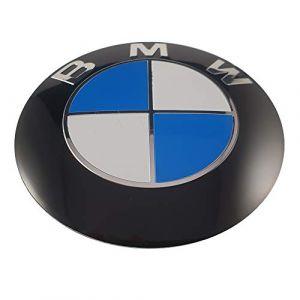 Autre logo Ludostreet réf0001 emblème pour BMW 82 mm avant de capot de voiture. (Blanc - Bleu) (Ludostreet, neuf)