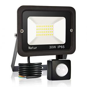 30W Projecteur LED détecteur de mouvement, Blanc Chaud(3000K) spot led exterieur avec detecteur IP65 lampe de sécurité idéal pour éclairage public, garage, couloir, jardin[Classe énergétique A++] (Bapro, neuf)