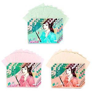 Papiers de buvard de maquillage de double face visage papier absorbant l'huile ensemble, 250 feuilles (B) (Koala Superstore EURO, neuf)