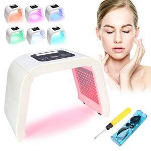7 couleurs lampe de beauté photodynamique lumière PDT Led, lumière Appareil de beauté pour peau traitement anti-rides Spot Distance acné anti-âge raffermissement de la peau acné Traitement(EU Prise ) (Yotown-eu, neuf)