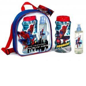Spider-Man - Disney Sac à Dos Spiderman avec Gel Douche 475ml et Eau de Toilette 200ml (Cmagic, neuf)