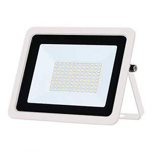 Projecteur LED extérieur ultra-mince 220V, IP68 étanche, projecteur LED extérieur, éclairage de sécurité, utilisé dans le garage de la cour de jardin, blanc froid 100W (wctebay, neuf)