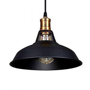 STOEX Lustre Suspension Industrielle Vintage E27 Lampe Plafonniers Retro Abat-jour pour Cuisine Salle à manger Salon Chambre Restaurant (STOEX, neuf)