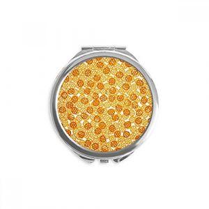 DIYthinker roue forme de délicieux snacks nourriture fond d'écran miroir rond maquillage de poche à la main portable 2,6 pouces x 2,4 pouces x 0,3 pouce Multicolore (bestchong, neuf)