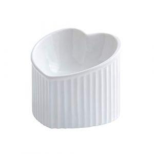 HCHLQLZ Blanc Porte-gamelle Surélevée Gamelle incliné pour Chien et Chat Céramique (Hetoco, neuf)