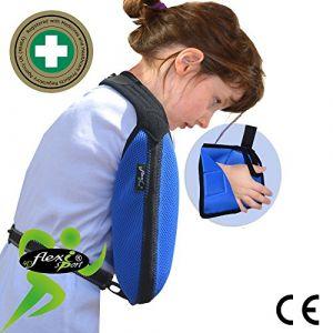 Écharpe d'immobilisation d'épaule de bras (Enfant:9-12ans, BLEU)? Poche de bras est grande profonde ? CONFORT DE REFROIDISSEMENT TRES BIEN | Unisexe. (Angel Med Direct, neuf)