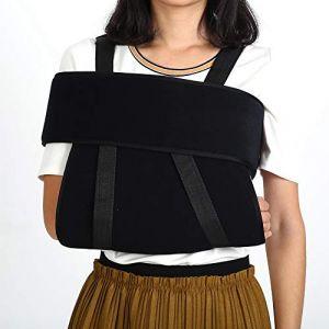 Support médical pour bras- Sangle pour bras fracturé avec attelle d'immobilisation pour épaule et bras médical réglable (M) (Pongnask, neuf)