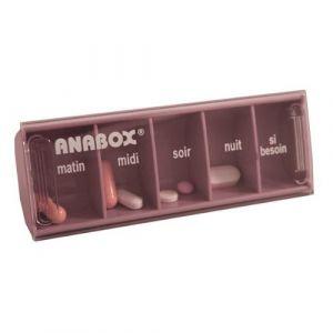 Pilulier Journalier | 5 Cases | Lilas | Anabox (BIVEA, neuf)