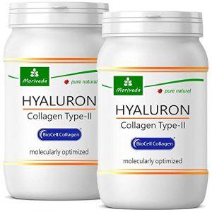 Capsules Biocell Collagen® ou Collagen Express (avec collagène II, acide hyaluronique, vitamine C et manganèse) 1 000 mg de collagène / jour pour la peau, les cheveux et les articulations, par NP-Vital (60 Biocell Collagen® capsules) (AMTEC International,
