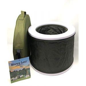 Toilettes de bivouac portables, WC pour le camping, un festival, la pêche, se plient à plat, supportent plus de 150 kg (CarpLife Products Ltd, neuf)