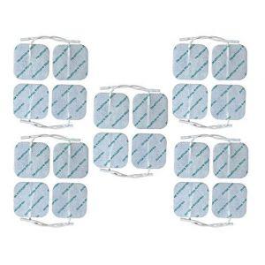 Healthcare World® TENS EMS Électrodes Supérieures 5cm x 5cm Paquet de 20 Autocollantes pour Appareil Electrostimulation (Healthcare World Online, neuf)