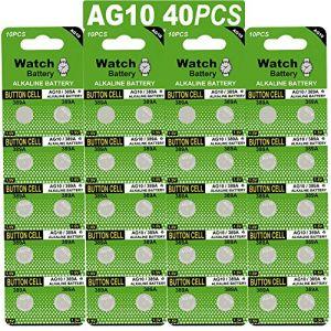 Paquet DE 40 Piles Bouton alcaline de la Pile LR1130 AG10 (Haiqiu Business, neuf)