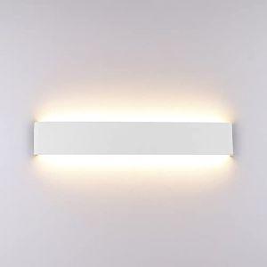 Klighten Appliques Murales LED Pour IntéRieur, ÉClairage Mural Moderne En Aluminium 51CM 16W, Haut Et Bas Appliques Murales Blanc Chaud IP44 Pour Chambre, Salon, Etescaliers Et Salle De Bains, Blanc (Oppsun-EU, neuf)