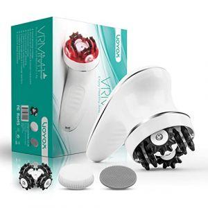 VOYOR Masseurs électriques Portables,Appareil Anti Cellulite Electrique Massage Cellulite Masseur Anti Cellulite pour Tete Dos Pieds Visage Cervicale avec Brosse Nettoyante Visage VRMM1-NEW (VOYOR HEALTH, neuf)