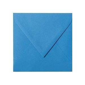 25 enveloppes 15 x 15 cm, 150 x 150 mm, bleu, fermeture par humidification-grammage : 120 g/m² (Briefumschläge24plus, neuf)