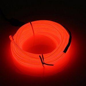 Guirlande Lumineuse LED, COVVY Neon Flexible Lumineux Décoration à piles pour Fête/Noël/Anniversaire/Soirée/Mariage, 3 Modes Éclairage avec télécommande, Imperméable Pour Intérieur (Rouge, 3M) (BLUEMANGO, neuf)