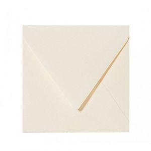 25 enveloppes 15,0 x 15,0 cm Crème 150 x 150 mm fermeture?: feuchtklebend Grammage?: 120 g/m² (Briefumschläge24plus, neuf)