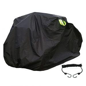 FUCNEN Housse de Protection pour vélo pour 2 3 vélos en Tissu Oxford 210D résistant à la poussière et à la Pluie Protection UV pour VTT Road Cruiser 3 Roues L (Ven Huang, neuf)