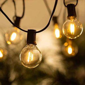 BRTLX 50FT LED Guirlande Lumineuse Exterieure, 15M G40 Guirlande Guinguette Extérieur avec 25 LED Ampoules Incassables pour Fête Jardin Mariage Patio (1 Ampoules de Rechange) (LEDELF, neuf)