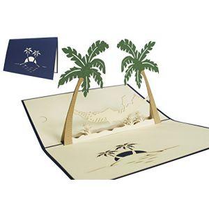 LIN - Pop Up 3D Carte de voeux pour la retraite, Hamac et palmiers (#121) (LIN POP UP KARTEN, neuf)