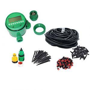 Himifuture Kit d'irrigation goutte à goutte, système d'arrosage de jardin, avec tuyau d'arrosage, minuteur et différents systèmes d'arrosage (Himifuture, neuf)