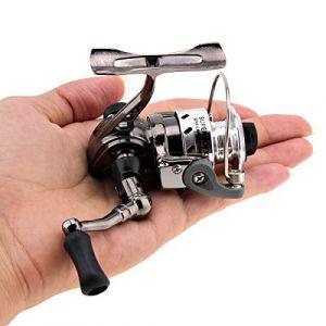 OriGlam Mini Pêche moulinets Spinning Reel 4.3?: 1Gear Métal Design lisse et puissante rotatifs bobines pour la carpe basse truite d'eau douce à l'eau salée Pêche (OriGlam, neuf)