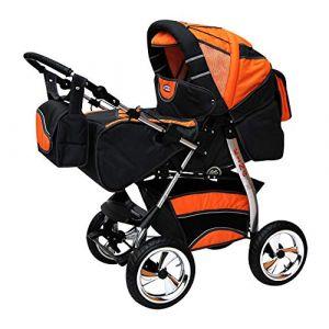 Poussette Combinée Trio landau 2en1 3en1 Isofix siège Auto KingCar by SaintBaby platine & orange 4en1 avec Isofix (SaintBaby, neuf)