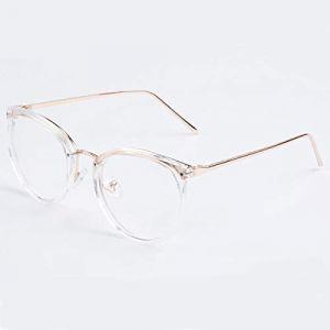 5cdd2590e5 EgBert Vintage Unsex Ronde Métal Pc Myopia Lunettes De Lecture Monture Full  Rim Lens En Résine