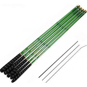 Goture Tiges de pêche télescopiques en fibre de carbone Tenkara Rod Carpe légère de pêche 10FT 12FT 15FT 18FT 21FT 24FT + 3 Segments supérieurs (Goture-FR, neuf)