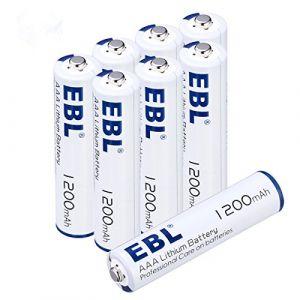 EBL Pile Lithium Type AAA Non Rechargeable 1.5V 1200mAh Plus Longue Autonomie lot DE 8 Â… (EBL Official, neuf)