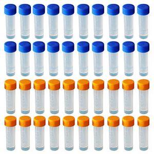 Limeo Cryotubes En Plastique Tubes Cryogéniques Gradués Tube à Échantillons Tube En Plastique Tubes à Essai Tubes à Éprouvettes (Limeow, neuf)
