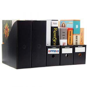 OFFIDIX 5 niveaux Kraft papier boîte de rangement de bureau A4 porte-documents tiroir organisateur de papier pour bureau à domicile bricolage papier conteneur boîte de stockage de fichiers (Noir) (Offidirect, neuf)