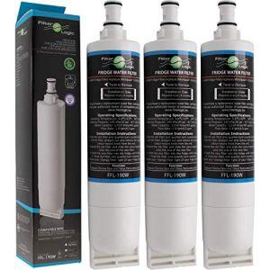 FilterLogic FFL-190W | Filtre à eau compatible avec Whirlpool SBS200, 484000008726 - SBS002, 481281729632 - SBS001, 481281728986 - USC009/1 Cartouche filtrante réfrigérateur frigo américain (Lot de 3) (ISB Watertec, neuf)