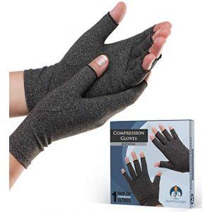 Gants anti-arthrite Dr. Frederick's Original - Chaleur et compression pour soulager la douleur de l'arthrite rhumatoïde et de l'arthrose - Hommes & femmes … (Medium) (Frederick Medical Supply EU, neuf)