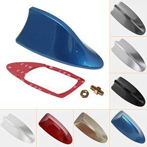 FEELDO Antenne radio de toit étanche unversel pour voiture, style aileron de requin décoratif, avec fonction radio AM/FM (rouge) (FEELDO CAR ACCESSORIES, neuf)