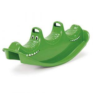 Dantoy bascule pour 3 personnes en plastique durable avec 3 sièges fabriqué au Danemark, crocodile vert (Modellsport Boehm, neuf)