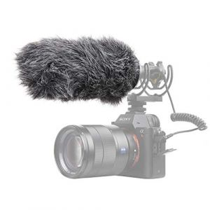 Pergear VideoMic Deadcat Windscreen Outdoor Wind Cover Muff Mic Windshield for Deity V Mic D3 Pro, D3 Pro Kit and other Shotgun Mic (Longueur 14 cm, diamètre 19-23 mm) (JYphoto-EU, neuf)
