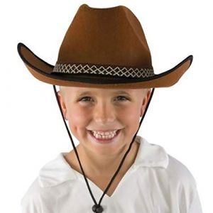 P'tit Clown 11235 Chapeau Feutre Cow Boy Enfant - Marron (Oofete, neuf)